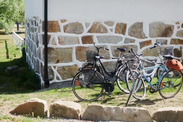 Parkera cykeln och fyll på energin