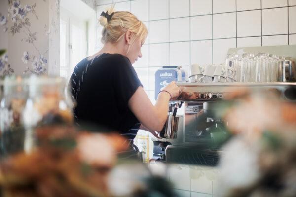 En kaffe latte tack